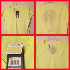 HEATGEAR TOP ARMOUR VENT fitted top.  Quality soft Tee.  Perfect with jeans or slacks.  Very nice fabric.  Beautiful top.  New with tags. ARMOUR Tops Tank Tops