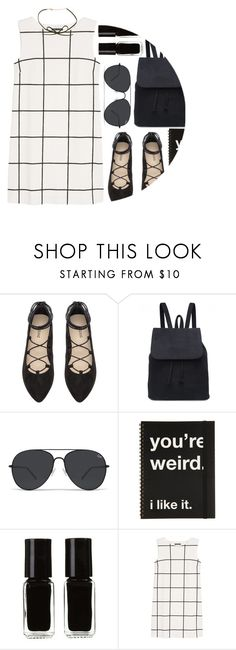 """#NYFW"" by maevekaterina ❤ liked on Polyvore featuring The New Black, MANGO, polyvorecommunity, polyvoreeditorial, polyvorefashion and polyvoreset"