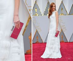 Darby Stanchfield with a Rebeus Milano Python Clutch at the 2027 academy awards.