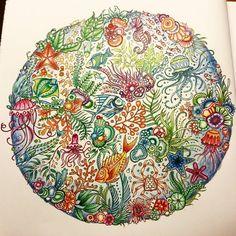 Finished!  #lostocean #colouring #johannabasford #fabercastellglobal #stabilos88