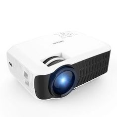 """""""Features & Benefits"""" DBPOWER T22 HD Video Projector 2200 Lumens Support 1080P with Free HDMI AV Cable for Multimedia Home Cinema Theater TV Laptop Game SD iPad iPhone Android Smartphone-White #SmartphoneProjector"""
