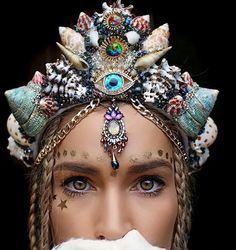 Seashell crown bridal crown