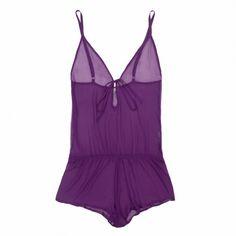 Beautiful Bottoms Ultra Violet Drop-Back Playsuit | Journelle Fine Lingerie