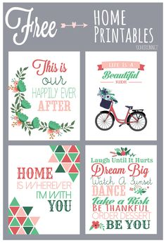 Printables For The Home - Free until April 24th - #freebies #freeprintables #printables SohoSonnet Creative Living