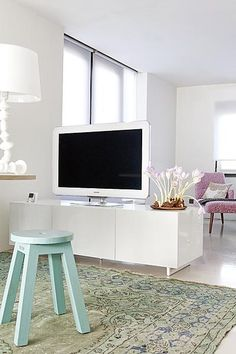 Living room. use this layout to place tv next to the mantel instead of on top