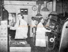 Followspot Operators at the Odeon Theatre, Southend in 1955 - Kindly Donated by Jan Davies