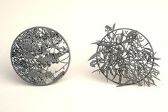 Casuarina Grampians and Eucalypt, Marian Hosking 2014 Bilk Gallery, Canberra Contemporary Metal jewellery and Glass