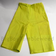 #VINTAGE 60s Lime green skinny stretch Bermuda #etsy #clothes