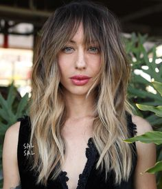 Long Choppy Style with Bangs