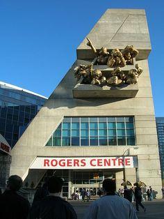 Exterior Scuptures Rogers Centre Toronto by Michael Snow Visit Toronto, Toronto City, Toronto Travel, Toronto Canada, Dundas Ontario, Toronto Architecture, Rogers Centre, American Games, Greater Toronto Area
