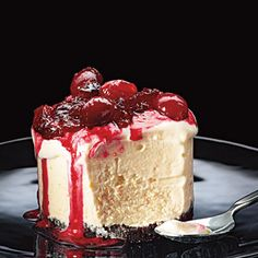 Frozen Orange Tortes with Cranberry Compote