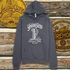 Stay warm this Fall visiting Yellowstone National Park in this super soft hoodie sweatshirt from Montana Treasures. Shop now!