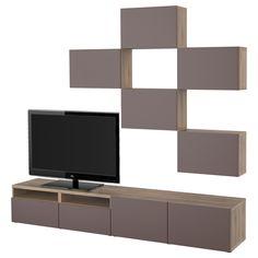 Kommode modern design  ikea wohnwand modernes design schränke hochglanz fronten offene ...
