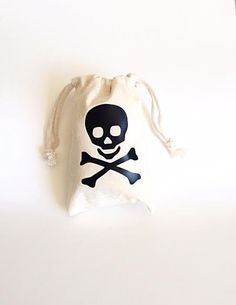 Party favors bags Pirate party Pirate theme by GracefulGreetingCo Pirate Party Favors, Pirate Theme, Party Favor Bags, Pirate Halloween, Halloween Bags, Pirate Skull, Skull And Crossbones, Birthday Party Themes, Etsy