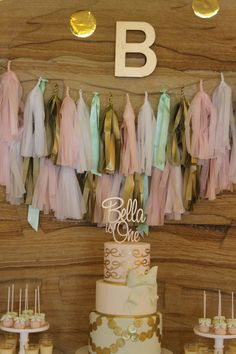 Real Parties - Bella's 1st Birthday Party - Pink Gold & Mint | Bickiboo Party Supplies