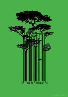So, my name means Pipal tree, which is a type of Banyan.  This graphic would be a kickass logo for that.  Barcode Trees Graphic  by Dangermouth.co.uk ™