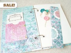 SALE Upcycled Recycled Handmade Journal by thevintagepaperbird, $12.95