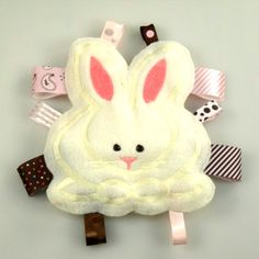 Snuggle Bunny Stuffed Taggie Buddy from giggles in the Garden