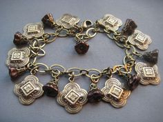 Bracelet and Earrings Set  Medieval  Jewelry Sets by SilverTrumpet, $57.00