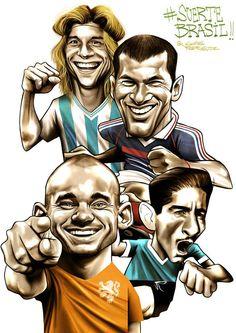 Os carrascos do Brasil em Copas, por Gonza Rodriguez - http://www.colecaodecamisas.com/carrascos-brasil-copas-gonza-rodriguez/ #colecaodecamisas #Gonzarodriguez