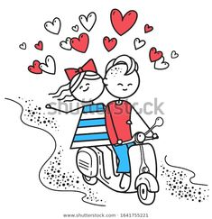 Стоковая иллюстрация «Lovers Boy Girl Ride On Gas», 1641755221 Happy Valentines Day Card, Vector Characters, Snoopy, Lovers, Boys, Illustration, Fictional Characters, Image, Art