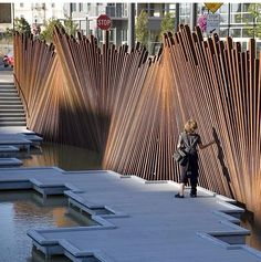 by Creation at tanner spring park in Portland. 📷📍👏 by Creation at tanner spring park in Portland. Landscape Architecture Design, Landscape Walls, Urban Landscape, Modern Architecture, Portland Architecture, Spring Architecture, Architecture Diagrams, Architecture Portfolio, Design Exterior