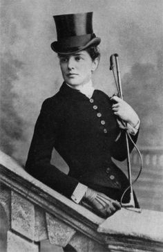 Lady Randolph Churchill, American, mother of Winston, in riding costume