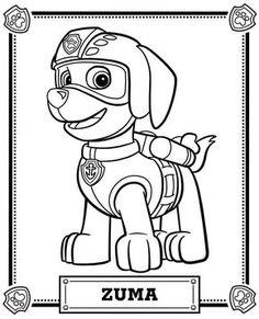 Patrulha Canina - Zuma Descubram milhares de desenhos a colorir gratuitos para imprimir destinados ao público infantil.