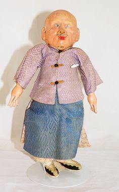 Wonderful Chinese Man doll from 1910 by UniqueWorldDolls on Etsy