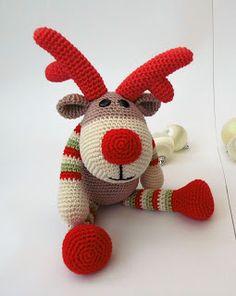 Kirju Mirju käsitöö.: Reindeer Rudolf.Pattern.