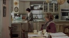 "The classic and timeless well-appointed kitchen in the movie ""Mrs. Doubtfire.""  (Hooked on Houses)"