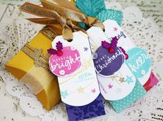 Melissa Phillips |  Papertrey Ink - holiday style | gift tags