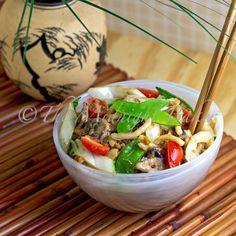 Vegan Peanut Noodles #MeatlessMonday