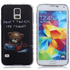 S5 Case / Galaxy S5 Case,DIOS CASE(TM) Wavy Texture Antiship Design Translucent Ultra Slim fit Flexible Thin Soft TPU Rubber Protective Skin Cover for Samsung Galaxy S5/i9600 (Little Bear) * Check this awesome product by going to the link at the image.