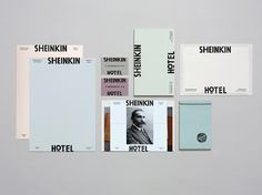 hotel illustration Sheinkin Hotel Branding by Studio Ross Hotel Branding, Stationary Branding, Stationary Design, Logo Branding, Web Design, Layout Design, Print Design, Logo Design, Collateral Design