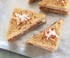 Roast Beef Tea Sandwiches with Horseradish Cream