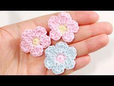 Простой цветок крючком ♥ Как связать цветочек - YouTube