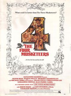 The Four Musketeers Michael York, Raquel Welch, Oliver Reed, Richard Chamberlain Movie Props, I Movie, Milady De Winter, Richard Lester, Richard Chamberlain, Cinema Posters, Film Posters, Oliver Reed, Fritz Lang