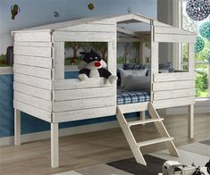 ★ Buy the Donco Trading Kids Twin Size Tree House Low Loft Bed in Rustic Sand Finish at ekidsrooms.com ★The 1380TLRS Club House Low Loft Bed features a beautiful Brushed Driftwood finish and solid wood construction.
