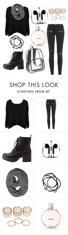 """""""Black autumn style!!!"""" by kkulenbekova ❤ liked on Polyvore featuring Alice + Olivia, Paige Denim, Charlotte Russe, PhunkeeTree, Feather & Stone and Wet Seal"""