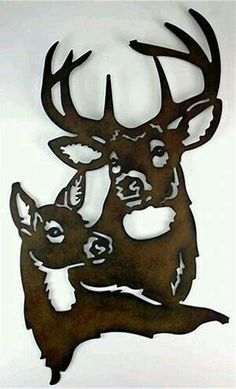 Image result for Silhouette of a Deer for Scroll Saw Patterns Free