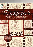 "revista com Redwork - Gallery.ru / Los-ku-tik - Альбом ""Pearl Louise Krush - Redwork Winter Twitterings - 2010"""