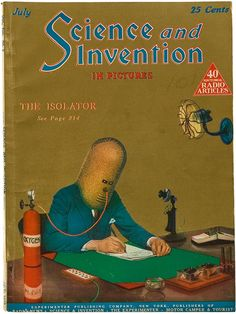 "A mix between a giant gas mask and a primitive dive helmet, ""The Insolator"" made its pictorial debut on the cover of the July 1925 issue of Science and Invention. The invention …"