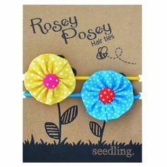 Seedling Rosey Posey Hair Elastics - MissMollyCoddle
