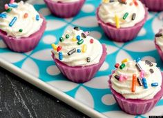 Birthday Cake Jello Shot    Get the Birthday Cake Jello Shot recipe by Sweet Tooth  Who needs birthday cake when they can have Jell-O shots in the shape of a cupcake, with frosting on top.