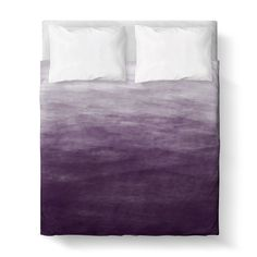 "This duvet cover features a lovely deep purple ombre design professionally printed on quality fabric. Each duvet cover is a custom order. We have partnered with wonderful manufacturers who specialize in digital printing. They bring our designs to life one product at a time, allowing us to create special products. FEATURES:  Three sizes available: Twin 68""x 88"", Queen 88""x 88"" and King 104""x 88"" Printed Front 100% Soft brushed polyester printed top with Poly cotton blend (50% Cotton, 50%…"
