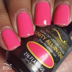 Bio Seaweed Gel Flamingo 216 Bright Hot Pink