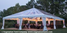 Crystal clear perfection in this clear top tent!