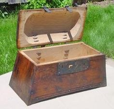 Recreated Hedeby Sea Chest--I like how the top is carved out for more space