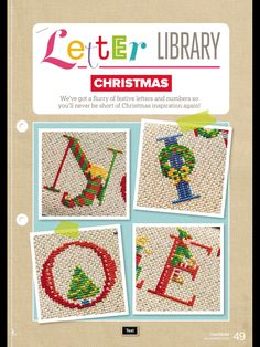 Christmas Letter Library CrossStitcher Issue 311 November 2016 Zinio Saved